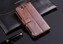Newest! Luxury Stand Flip Wallet Real Leather Case Skin Shell Cover For Sony Ericsson Sony Xperia Z L36H C6603 Free shipping(China (Mainland))