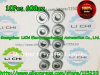 best price 10pcs  608ZZ ABEC-5 8*22*7 608Z Miniature Ball Radial Ball Bearings