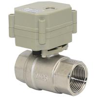 2 way motorised ball valve NPT/BSP 1'' SS304 full port AC/DC9-24V NO/NC type for heating water heater solar water equipment