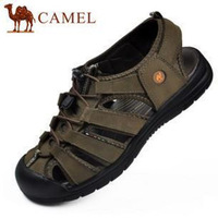 free shipping Camel summer sandals cowhide outdoor shoes sandals male sandals toe cap covering sandals