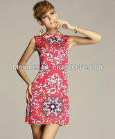 EUROPE Station 2013 New Summer Dress  Sleeveless Similar with Chinese Cheongsam