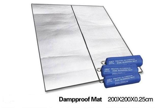Dropshipping 200*200cm Aluminum Backing Insulating Insulation Foam Camping Mat Blanket Cushion Pad for Camping Hiking(China (Mainland))