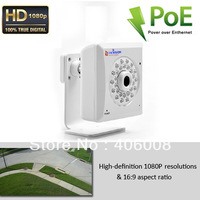 HD 1080p onvif 2 mp camera security ip system poe night vision with free app on iPhone, iPad, Android smartphone + Free shipping