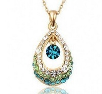Hot blue crystal pendant 4 gb, 8 gb to 16 gb and 32 gb flash drive usb/memory stick/necklace / 2.0 gifts U disk free shipping