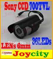 CCTV Camera Waterproof 1/3 Sony CCD 700TVL 36leds IR Night Day Vision Surveillance Video Camera Free Shipping Joycity