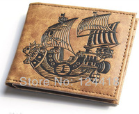 Free Shipping New Anime One Piece Going Merry Wallet Cosplay Purse Leather High Quality