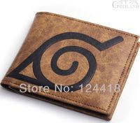 Free Shipping New Anime Naruto Konoha Village Logo Wallet Cosplay Purse Leather High Quality