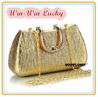 New 2014 Women's Leather Handbag. Resin Pattern Diamond PU Clutch Wallets Bride. Ladies Chain Evening Bag Shoulder Messenger