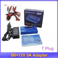 IMax B6 Digital LCD Lipo NiMh battery Balance Charger + Power Adapter 12V 5A +register free shipping