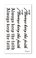 Waterproof temporary tattoo stickers letters