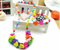 Wholesale 30pcs a lot slik A set hildren's necklaces Children's Bracelet HR48