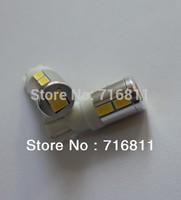 T10 10SMD 5630 chip super bright Car LED Bulbs  Canbus NO OBC+ no polarity + Aluminum cover+12v-24v