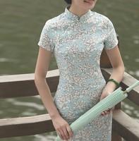 2014 fashion cotton/linen cheongsam classic elegant fair maiden cultivate one's morality,women Cheongsams dress/ free shipping