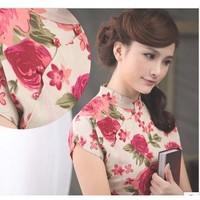 2014 new fashionable red tassel Chinese cheongsam/5 size, free shipping