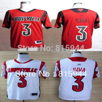 College Louisville Cardinals #3 Peyton Siva white/ red basketball ncaa jerseys mix order free shipping