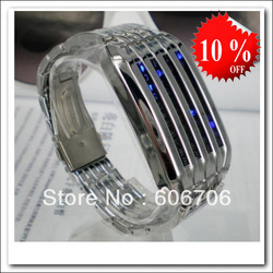 Wholesale!discount!NEW Fashion LED Luxury Day Date Digital Lava Iron Bracelet Sports Wrist Watches Gift For Men Women Lady(China (Mainland))