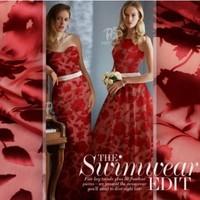 140CM Wide Format Red Leaf High-grade Silk Jacquard Georgette Burning Flowers Garment Fabric.