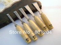 One set(5PCs) of High speed steel woodworking chisel set five piece per set # 4031A