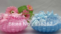 Lovely!Free Shipping(50pcs/Lot)Ocean Style!Sea Shell Shape Baby Shower Favor Box,w/Lace,Ribbons,Bear,Apron,2C can Mix Per Lot