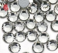 Free shipping 1440p 1.9-2.0mm Top SS6 Crystal Clear  Non Hotfix Flatback Rhinestone 3D Nail Art Decoration Glitter Gems Jewerly