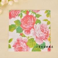 flowers pattern napkin paper 33x33 cm 20 pcs/pack 7 packs/lot free shipping wholesale