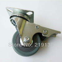 New 360 Degree Industrial Hospital Bed Rubber Furniture Swivel Caster Wheels Rolling With Brake Home Office Computer Chair