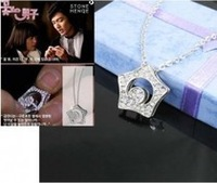 10pcs Korea TV Drama Boys Over Flower Kissing Star Necklace Free shipping