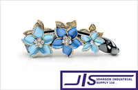Multi Colors Crystal Flowers and Acrylic Clip,Fashion Hair Clips,Hair accessories, Best Gift for Lover, 0333, Free Shipping