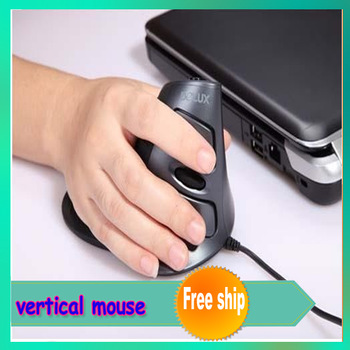 NEW Delux M618LU M618 wired vertical mouse laser upright mices health mouse