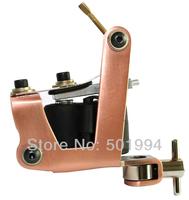 Free Shipping Light Bronze Tattoo & Body Art machine supply Handmade Shader Machine Gun 10 Wrap Coils
