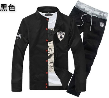 New 2014 spring and autumn men sports suit men's sports wear casual jacket and pants men's sports set men's casual set -TZ01-50