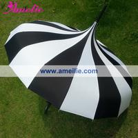 Free shipping! White and Black Stripe Pagoda umbrella Straight Wedding Sun Pagoda Umbrella, retail and wholesale /10pcs/lot