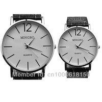WholeSale!Classic Women Men Quartz Dress Watch Male Female Brown Leather Strap Casual WristWatches Clock Couple Watch For lover