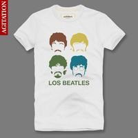 New 2013 100% cotton short-sleeve summer beatles rock t-shirt men's clothing the beatles Mutiple Designs 21 Articles Brand Men's