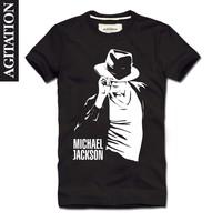 HOT! Free Shipping 2013 100% cotton Men's Casual Slim Fit Stylish  short-sleeve round neck T-shirt Michael Jackson Size:M-XXL