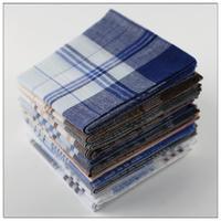 Handkerchief Cotton 100% Quality Cotton Handkerchief For Men Gift Free Shipping Wholesale 10 pec/lot