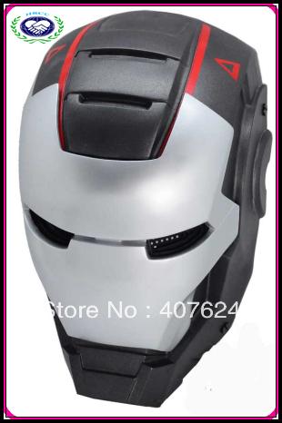 10pcs/lot Free Shipping plastic iron man movie mask cosplay mask(China (Mainland))