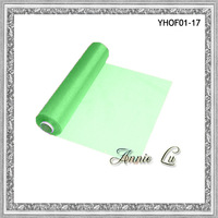 Free Shipping-New Hot sale Light Green Silk Organza Fabrics For Wedding Decorations