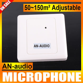 DC 6-12V Adjustable Capacitor Audio pick up Sound Monitor Security CCTV Microphone For CCTV Cameras DVR AN-audio