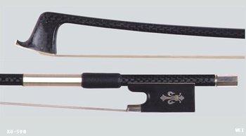Cello bow carbon fiber bow stick, Ebony frog, Nickel Copper mounted(Silver color) cello bow of SFC95