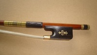 Cello bow pernambuco bow stick, Hawksbill frog, gold mounted cello bow of SFC1000