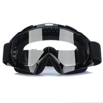 Super Black Motorcycle Bike ATV Motocross Ski Snowboard Off-road Goggles  FITS OVER RX GLASSES Eye Lens Free shipping