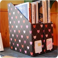 stationery Desktop file box file holder file box data rack paper storage box file block