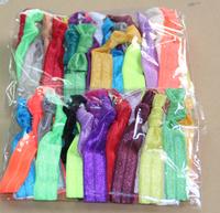 60pcs/lot DIY Show Elastic Hair Ties Bracelet Ribbon FOE Hair Tie Elastic Wristbands for Girl Ponytail Holder Free Shipping
