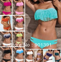 Newest Summer Fashion Sexy Women Bikini Swimwear Padded Boho Fringe Tassels Real Class