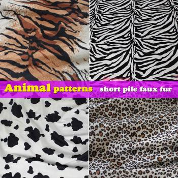 Animal prints patterns, Tiger Print, zebra print, cow, leopard print, short pile ...