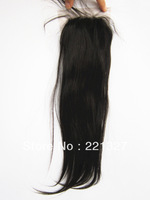 100% virgin unprocessed brazilian hair 3.5''x4'' top lace clousre,natural color can be dyed with free shipping