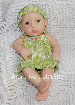"Hand made Reborn Baby doll lovely toys soft Vinyl head ,12"" baby doll beautiful baby girl toy"