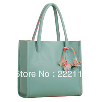 2013 Candy Color Block Flower Bag one shoulder Tote Casual Handbag 10 colors 20 version