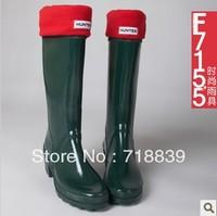 2013 women's high-heeled boots rainboots repair thermal rainboots tall boots